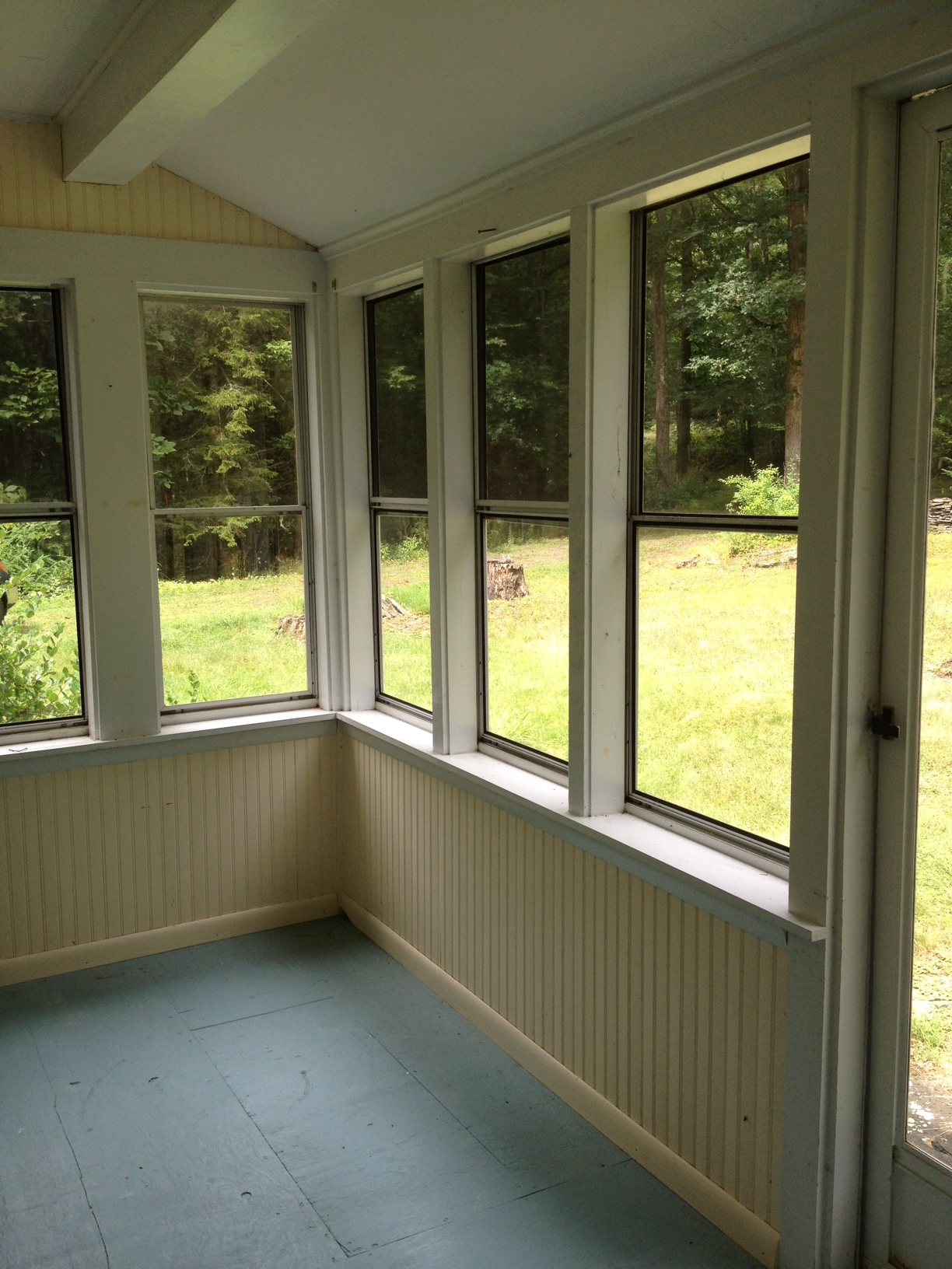 This old pinterest inspired house sleeping porch edition for New window ideas